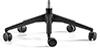 Configuración de Silla Gaming Eclipse de BattleSeat Blanca : Tipos de Base - - Base giratoria Poliamida Negra