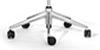 Configuración de Sillón de Dirección OF COURSE cs-102 y cs-103 de SEDUS : Tipos de Base - - Base giratoria Aluminio Cromado