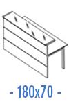 Configuración de Mostrador de Recepción Serie New Acabado Brillo : Mostrador Principal - Recto 180x70