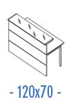 Configuración de Mostrador de Recepción Serie New Acabado Brillo : Mostrador Principal - Recto 120x70