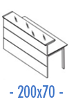 Configuración de Mostrador de Recepción Serie New Acabado Brillo : Mostrador Principal - Recto 200x70