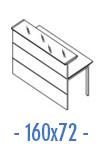 Configuración de Mostrador H4 de Herpesa : Mostrador Principal - Recto 160x72
