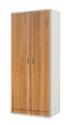 Configuración de Armarios de Oficina Alto Serie New : Color Estructura Armarios - Estructura Blanco - Nogal