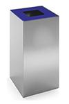 Configuración de Papelera de Oficina Riga Inox de Mobles 114 : Tapa - Azul