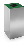 Configuración de Papelera de Oficina Riga Inox de Mobles 114 : Tapa - Verde
