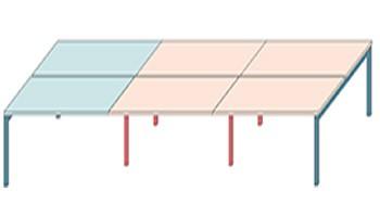 Configuración de Multipuesto Operativo Zama de Forma 5 : Número de Puestos - 6 Puestos