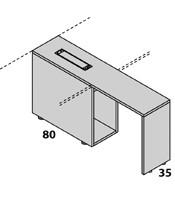 Configuración de Escritorio con Cajones Logic de Las Mobili : Logic Pie Derecho - Ala Porta CPU