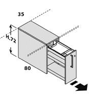 Configuración de Escritorio con Cajones Logic de Las Mobili : Logic Pie Derecho - Cajón Extraible