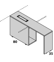 Configuración de Escritorio con Cajones Logic de Las Mobili : Logic Pie Izquierdo - Ala Porta-CPU