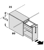 Configuración de Escritorio con Cajones Logic de Las Mobili : Logic Pie Izquierdo - Cajón Extraible