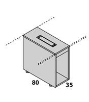 Configuración de Escritorio con Cajones Logic de Las Mobili : Logic Pie Izquierdo - Porta-CPU