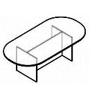 Configuración de Mesa de Juntas Ovalada de Herpesa : Estructura de la mesa - Mesa ovalada con Estructura de aglomerado
