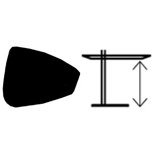 Configuración de Mesa Rock de SANCAL : Tapa mesa - Sancal Rock regulable en altura