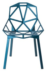 Configuración de Silla Chair One de Magis : Estructura Silla - One chair azul