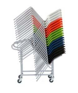 Carro apilamiento sillas 4 patas