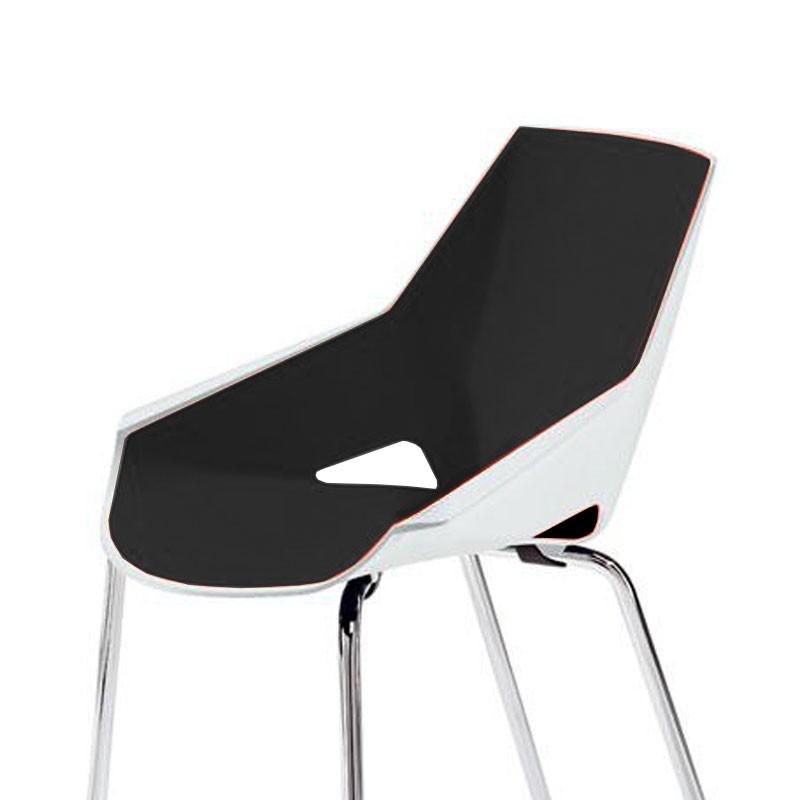 Configuración de Silla Colectividades VIVA de ACTIU : Estructura Silla - - Viva Blanca-Negra