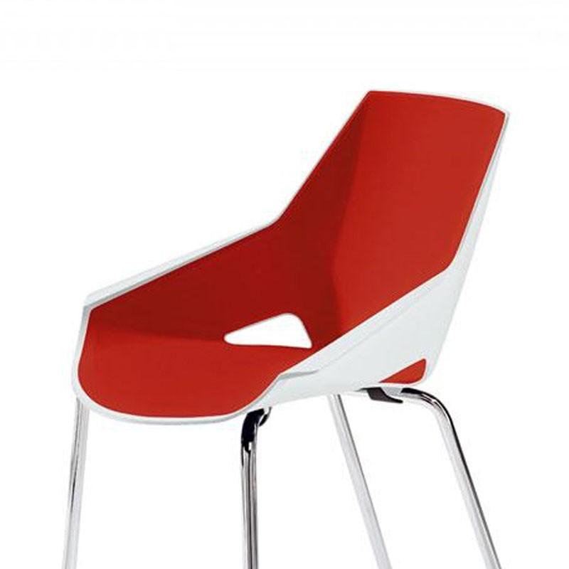 Configuración de Silla Colectividades VIVA de ACTIU : Estructura Silla - - Viva Blanca Rojo