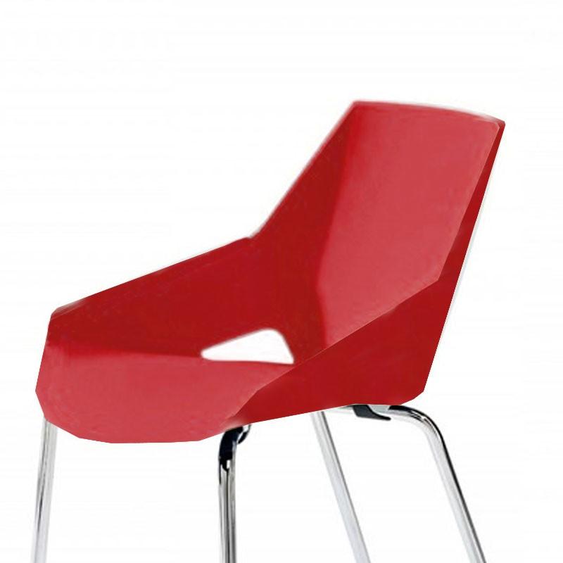Configuración de Pack de 2 Sillas Rojas Viva de Actiu : Estructura Silla - - Viva Rojo