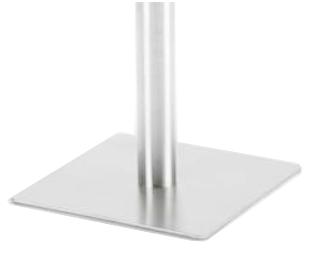 Configuración de Mesa de Reuniones con Peana Zen de Ismobel : Peana - Peana cuadrada blanca