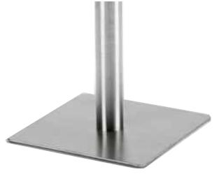 Configuración de Mesa de Reuniones con Peana Zen de Ismobel : Peana - -Peana Cuadrada Aluminio