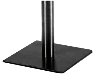 Configuración de Mesa de Reuniones con Peana Zen de Ismobel : Peana - - Peana Cuadrada Negra