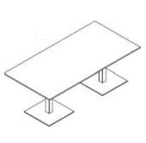 Configuración de Mesa de Reuniones con Peana Zen de Ismobel : Configuración de la mesa - - Zen dos Peanas