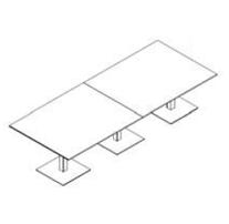 Configuración de Mesa de Reuniones con Peana Zen de Ismobel : Configuración de la mesa - - Zen 3 Peanas