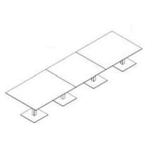 Configuración de Mesa de Reuniones con Peana Zen de Ismobel : Configuración de la mesa - - Zen 4 Peanas