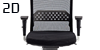 Configuración de Silla Ergonómica Vela de Luyando : Tipos de Brazo - - Ergonomica brazos 2D