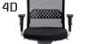 Configuración de Silla Operativa Tecno Rock 24h de Luyando : Tipos de Brazo - - Ergonómica brazos 4D